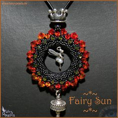 Fairy Sun / Perlen & Freundschaft / Petra Tismer  --  I like the beaded round.