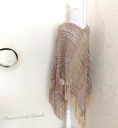 Crochet Poncho, Crochet Lace, Lace Cardigan, Dress Shawl, Body Warmer, Neck Warmer, Crochet Fashion, Shawls And Wraps, Lace Fabric