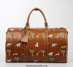I MUST have this. The François Voltaire number 4.   The Travel Bag inspired by The Darjeeling Limited movie by Wes Anderson. Made to order.