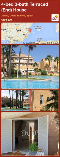 Terraced (End) House for Sale in Javea, Costa Blanca, Spain with 4 bedrooms, 3 bathrooms - A Spanish Life Small Hall, Fitted Wardrobes, Family Bathroom, Heating And Air Conditioning, All Family, Central Heating, Two Bedroom, Townhouse, Costa
