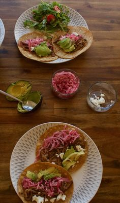 Slow Cooker Carne Asada Tacos with Pickled Onions [gluten free] | almost getting it together