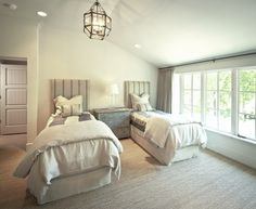Beautiful neutral bedroom.