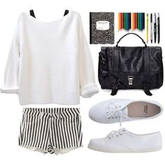 Relax black/white outfit
