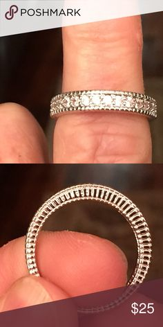 Sterling Silver CZ band ring SS 925 CZ Band ring Jewelry Rings