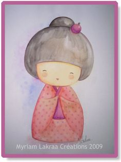 Kokeshi - Peinture-modelage, le blog des créations fimo et peintures de Myriam LAKRAA