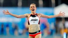 Jenny Simpson set the new American mark in the race after finishing it in 9 minutes, seconds at the Drake Relays. Drake Relays, Jenny Simpson, Yorkie, Olympics, Sporty, Running, American, Video, Celebrities