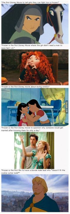 (Though I suppose someone could get technical and point out that Brave is a Pixar film. Pixar is part of Disney, but still. Disney Pixar, Disney And Dreamworks, Disney Magic, Walt Disney, Punk Disney, Disney Frozen, Frozen Movie, Olaf Frozen, Funny Disney Memes