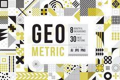 Modern Geometric Pattern Set by Anugraha Design on @creativemarket