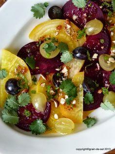 grain de sel - salzkorn: Rohkost-Fasten: Rote-Bete-Salat mit Trauben