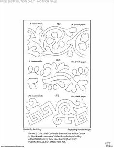 More scrolly border embroidery patterns