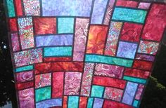 Beautiful stained glass effect of pojagi