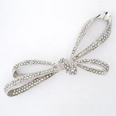 Ti Adoro Jewelry, Pave Crystal Bow Brooch
