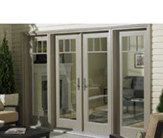 patio doors Just perfect...no grilles and love door handles. Retractable screen!