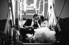 Bride and Groom on their rented ferris wheel (James Events)   Photo by Birds of a Feather