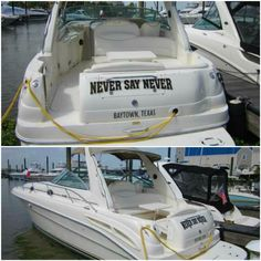 """Keep the party going. """"Never Say Never"""" 2000 Sea Ray 340 Sundancer with port side entertainment center complete with wet bar, cooler, and ice maker is designed to entertain. Never Say Never, Boats For Sale, Entertainment Center, Ice, Entertaining, Sayings, Party, Design, Entertainment Centers"""
