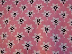 Vintage 1920s Fabric Cotton Pink Small White Flowers 30 inch wide 1 yard by FabricTreasures4U