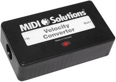 The MIDI Solutions Velocity Converter can modify the velocity response of any MIDI instrument using one of 40 preset curves or a user-defineable curve. Great for extending the velocity response of old synth keyboards.