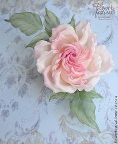 Silkflowers. Цветы ручной работы. Ярмарка Мастеров - ручная работа Оксаны Чистовой. Роза из шелка Princesse Grace. Цветы из шелка. Розовый. Нежный. Handmade.
