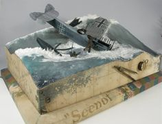 'Seenot' by Per Olav Lund. Image 2...This incredible diorama features the 1/32nd scale Wingnut Wings WWI German Hansa Brandenburg W.29 and is featured in the book Master Collection Vol. 1 - The World of Dioramas Saluting Per Olav Lund and is available here: http://www.michtoy.com/item-CAN-WD1-Master.html