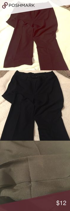"Worthington Curvy Fit Trousers Great condition. Black curvy fit trousers. Have been ""hemmed"" with iron on hemming tape, can be washed off. Made to fit 5'3"" with 4 inch heels. Make an offer! Worthington Pants Trousers"