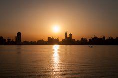 Beautiful sunset in Bahrain from the Prince Khalifa Bin Salman Park.