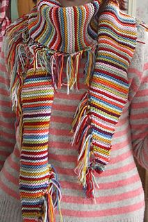 Love this fringe - this is a knit pattern, but would work as crochet too.
