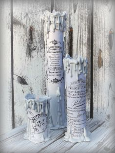 CollettesTreasures: DIY Vintage French Graphics Paper Towel Roll Candles