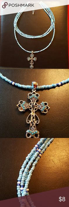 New Women's Jewelry New Women's Jewelry. Choker necklace with beautiful cross. Non smoking home Jewelry Necklaces