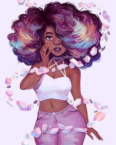 Black Love Art, Black Girl Art, Art Challenge, Cool Art Drawings, Art Sketches, Girl Drawings, Drawings Of Black Girls, Pretty Art, Cute Art