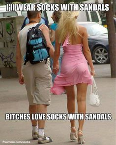 Women Love Socks With Sandals - the North Dakota look