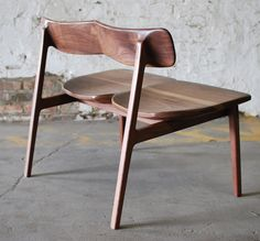 C01 Bench by Chicago-based designer and woodworker Jason Lewis. In solid walnut with a natural oil finish.