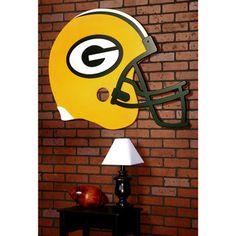 Green Bay Packers Helmet Wall Art at the Packers Pro Shop http://www.packersproshop.com/sku/4107460014/