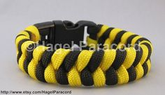 Black and Bright Yellow fish tail paracord by HagelParacord, $10.00