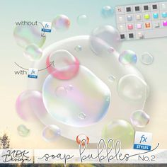 NBK-Design -[Soap Bubbles No2] - Various licenses selectable - Wonderful realistic Soap Bubbles  to add a fun whimsical touch to your pages and kits. With the included layerstyles you can add to the bubbles a individuall look. A high range of individual oportunities kann you