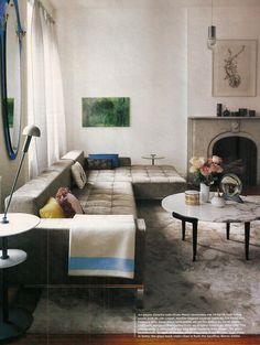 Our awkward lounge layout!