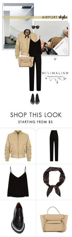 """neutral"" by aleessarm ❤ liked on Polyvore featuring WearAll, Lanvin, Raey, Acne Studios, Linda Farrow, StreetStyle, celine, airportstyle and LindaFarrow"