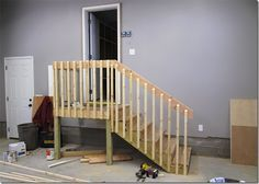 Paul Winters Finished The Carpentry Work On The Stairs Leading To The  Mudroom From The Garage Early This Afternoon.