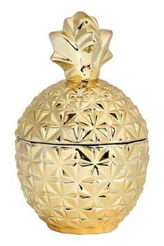 Caixa de vidro forma de ananás