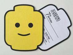 LEGO-Party-Einladung 10er Pack von bellybeancards auf Etsy
