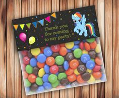 My Little Pony Favor Bag Toppers Chalkboard Party My by wbanner