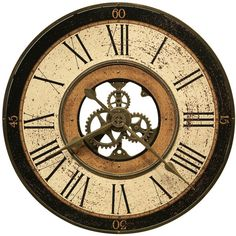Brass Works Wall Clock by Howard Miller found on Polyvore