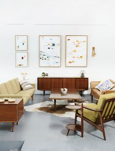 Beautiful Mid Century furniture at Modern Times in Fitzroy. Photo- Eve Wilson for The Design Files.