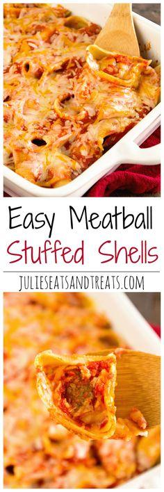 Meatball Stuffed Shells Recipe