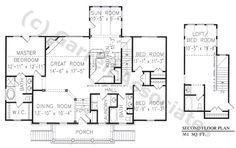 09698 Sea Crest Hall House Plan, 1st Floor Plan, Williamsburg Style House Plans, Ranch Style House Plans, Wheelchair Accessible House Plans