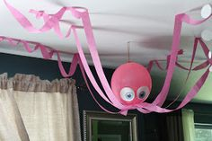 Octopus decoration (lots of easy party decor ideas)
