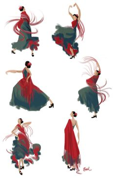 I love this beautiful simple dance illustration!