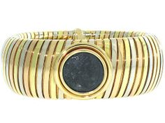 Bvlgari Ancient Coin Tubogas Bracelet in 18K- Beladora Antique and Estate Jewelry