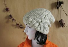 Sacking Winter Hat  Autumn Accessories  Slouchy by recyclingroom