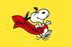 Always dance it out. Snoopy Love, Snoopy And Woodstock, Happy Dance Meme, Minions, Emoji Pictures, Peanuts Characters, Joe Cool, Dance It Out, Lucky Luke