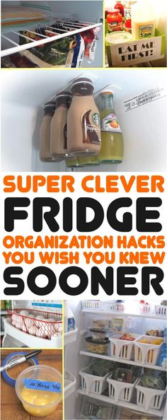 These fridge organizing hacks are super awesome! I am so happy I found these amazing ideas to organize the fridge. By applying these smart tips you are able to make your fridge organized super easily. Declutter Your Home, Organize Your Life, Organizing Your Home, Organizing Tips, Organising Hacks, Refrigerator Organization, Book Organization, Organize Fridge, Storage Hacks